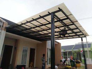 Contoh gambar kanopi baja ringan dengan atap polycarbonete-pasang kanopi tangerang termurah