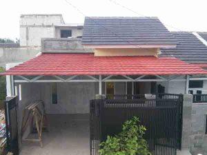 Gambar kanopi baja ringan dengan atap genteng metal-spesialis kanopi baja ringan tangerang