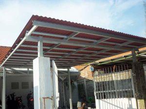 Gambar kanopi baja ringan dengan atap go green jasa kanopi tangerang