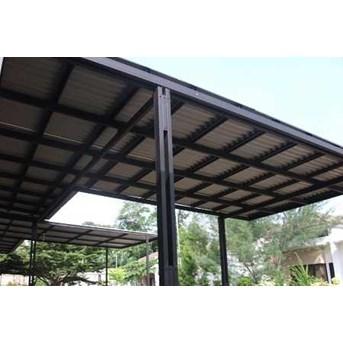 Gambar kanopi baja ringan dengan atap ondulin- kanopi murah tangerang