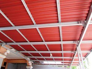 Gambar kanopi baja ringan dengan atap ondulin-jasa kanopi tangerang murah