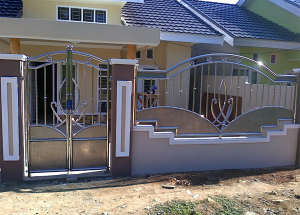 Gambar model pagar stainless steel