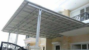 contoh gambar kanopi baja ringan dengan atap spansek