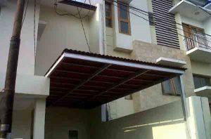 gambar kanopi baja ringan atap gogreen - kanopi murah tangerang