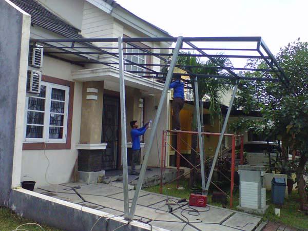 contoh pemasangan kanopi minimalis-canopi tangerang selatan