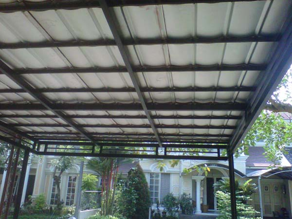 agambar kanopi atap spandek-jasa pasang kanopi terpercaya di tangerang